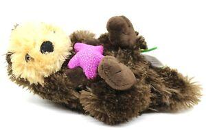 """Wild Republic Sea Otter with Starfish 12"""" Plush"""