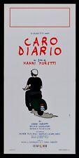 L102 LOCANDINA CARO DIARIO NANNI MORETTI MOTO VESPA PIAGGIO FESTIVAL CANNES CULT