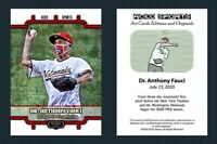 2020 Dr. Anthony Fauci *In Hand* Opening Day First Pitch ACEO Art Baseball Card