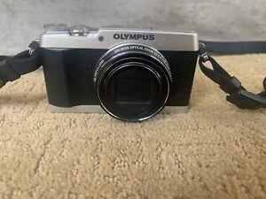 OLYMPUS Digital Camera STYLUS SH-1 Silver w/ Strap