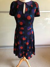 MARC JACOBS Black Silk and Polka Dot Mesh Detail Tea Dress - US8 / UK12