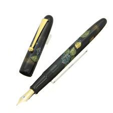 Namiki Yukari collection Hydrangea Maki-e Fountain Pen Colibri Box and Papers