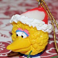 "SESAME STREET BIG BIRD MUG SANTA HAT 1"" MINI CHRISTMAS TREE ORNAMENT KURT ADLER"