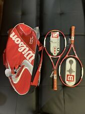 2 Racquets - Wilson ncode Six one tour 90 / (K) Pro Tour Super Six Pack Bag