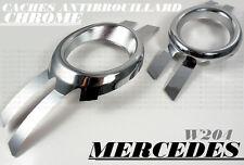 MERCEDES W204 2007-2011 C CLASS CHROME FOG LIGHTS COVERS TRIM FRONT KOMPRESSOR