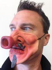 Funny demi visage masque bouteille nez ignoble diable homme barbu fantaisie fête masques