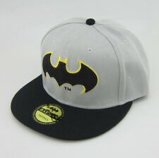 Dc Comics Batman Costume Snapback Black Adjustable baseball cap flat hat Grey