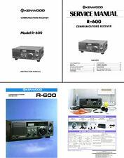 Bedien -/Servicehandbücher + Color Dokumente für die Kenwood R-600 - Fotokopie