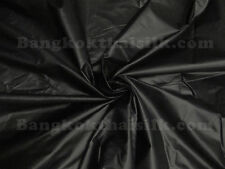 "BLACK POLISHED COTTON SHINY SHEEN FABRIC DRAPE DRESS SKIRT CRAFT 60""W BTY"