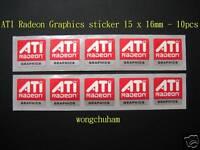 ATI MOBILITY RADEON PREMIUM GRAPHICS Sticker 16mmx16.6mm LOT OF 3 USA Seller