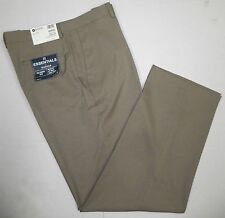 NWT HAGGAR Mens Essentials Classic Fit Tic Weave Dress PANTS Khaki Beige 38 x 32