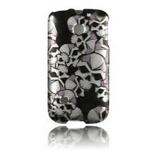 For Huawei Ascend II 2 M865 Protector Hard Case Snap on Phone Cover Black Skulls