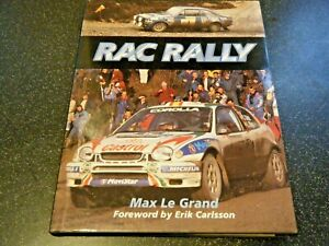 ERIC CARLSSON SIGNED RAC RALLY MAX LE GRAND SIGNED BOOK SAAB FORD ESCORT RS 1600