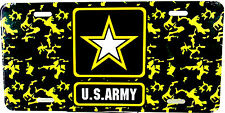 License Plate U.S. Army Star USA Auto Tag New aluminum  made in U.S.A. LP-1239