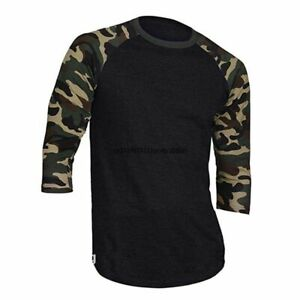 3/4 Sleeved Breathable Quick Drying Camouflage Jersey For Outdoor Cycling Tops