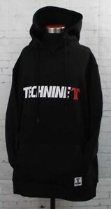Technine OG Logo Hoodie Pullover Sweatshirt Men's Medium Black New