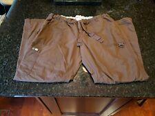 Koi By Kathy Peterson Women's Scrub Cargo Pants Size X-Small 701R Brown. Nice!