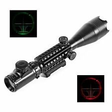 4-16X50EG Red Green Illuminated Air Rifle Gun dot Hunting Scope Sight w/ Mount