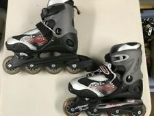 Boys Abec3 Blade Runner Roller Blades Size 4 5 6 7 w/elbow, knee and wrist pads