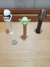 Starwars 1990s Pez Dispensers! Vtg - Darth Vader, Yoda + stormtrooper! Toy candy