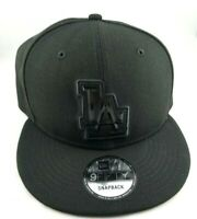 Los Angeles Dodgers LA New Era 9FIFTY MLB Black Snapback Hat Cap