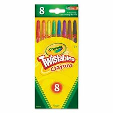 Crayola 17408 Twistables Crayons 8 Pack Colors Art School NEW!