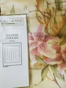 NEW CROSCILL CHAPEL HILL GODDESS FLORAL FABRIC SHOWER CURTAIN