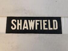 "Glasgow Partick Vintage Linen Tram Bus Blind 25""- Shawfield"