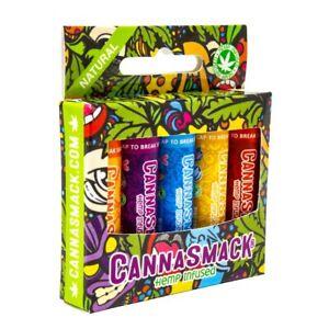 CannaSmack Natural Hemp Lip Balm - 5 Flavors Included - Cruelty Free - NEW
