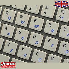 Italiano Transparente pegatinas teclado con cartas azules Para Laptop Pc Computadora