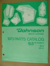 1973 JOHNSON 9.5 HP MODELS 9R73 9RL73 OUTBOARD MOTOR ENGINE PARTS CATALOG 386132