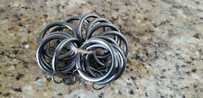 RH Curtain Drape Loop Clips Rings Silver Medium Restoration Hardware Set of 14