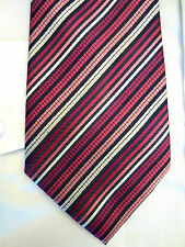 TU PINK PURPLE STRIPED 3.5 INCH WIDE POLYESTER NECK TIE