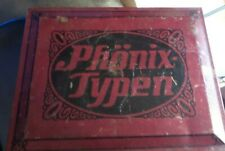 """Vintage Type Setting Number and Symbols by """"Phonix Typen"""" w/ Metal Case"""