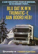 Trumatic-E LKW-Heizung Prospekt NL 80er J. prospectus Niederlande brochure