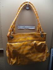 "Light Bronze Faux Alligator Handbag 12"" x 9"" x 3.5"" Many Types of Pockets VGC"
