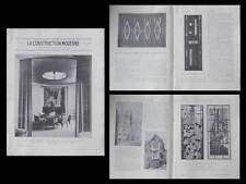 LA CONSTRUCTION MODERNE n°52 1929 ART DECO, ROUEN, SALON ARTISTES DECORATEURS