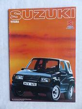 Suzuki Vitara Cabrio / Limousine - Prospekt Brochure 1989