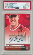 2019 Topps Now Mike Trout Signed AUTO 33/99 Angels PSA/DNA PSA 10