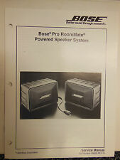 Bose Pro RoomMate Powered Speaker System Service Manual OEM ☆ EXC ☆