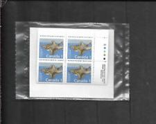 pk59801:Stamps-Canada Po Pack #1155 Flying Squirrel 1 cent Plate Block Set-Mnh