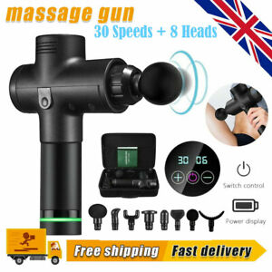 30 Speed LCD Massage Gun Percussion Massager Muscle Relaxing Therapy Deep Tissue
