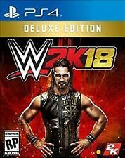 WWE 2K18 DELUXE EDITION PS4  GAME NEW