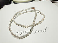 """16"""" mini AAA+3-4 mm Real natural Akoya white   pearl necklace 14k Gold 18 inch"""