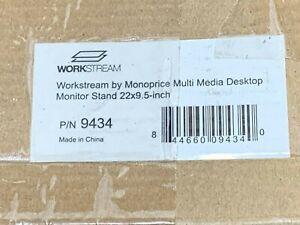 "Monoprice Multimedia Desktop Riser Stand - 22"" x 9.5"" W/ Height (Adjust. Legs)"