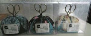 DRITZ PIN CUSHION AND SCISSORS...3 DESIGNS TO CHOOSE FROM