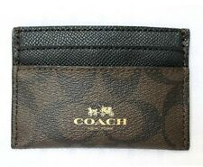 COACH ~ Signature Brown PVC Card Case Wallet F63279 ~ New!