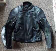"Teknic stylish   LEATHER BIKER JACKET          40"" chest"