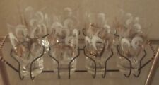 Mid Century Modern Abstract Retro 8 Glasses Tumblers Holder Carrier Caddy