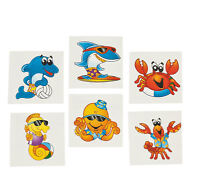 72 Sea Creature TROPICAL TATTOOS LUAU PARTY FAVORS pool beach